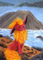 ACEO - Flareon by o-Anubis-o