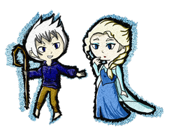 Windwaker Jack Frost X Elsa by Missplayer30
