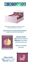 Sweet Dreams are made of Fleece bed set by Little-Miss-Boxie