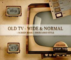 Old TV - Wide and Normal by boeenet