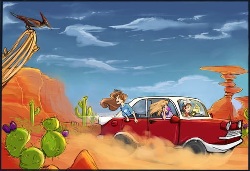 Desert Sweaters: Road Trip by MischiefCandlelite