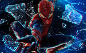 The Amazing Spider-Man Anaglyph HQ Wallpaper 1080p by SKstalker
