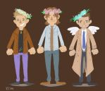 SPN Flower crooooowns by Panfake