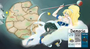 LoL :: Weather Lady Janna by sonyasim55
