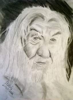 Charcoal Gandalf (EDITED) by SulaimanDoodle
