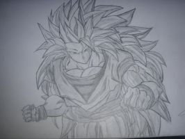 goku super saiyan jin 3 by kinggogeta123