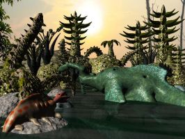 The Phytozoan Swamps by Thethicrad