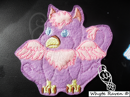 Purple Baby Gryphon Embroidery Patch by Whyte-Raven