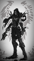 SpeedPaint 13 - Demon Hunter by Vexod14