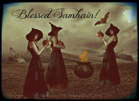 Blessed Samhain by ravenaudron