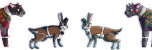 Fnaf OCs: Hampton the Hare and Percel the Panther by RStheCat