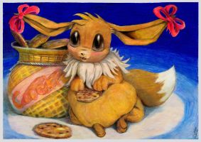 Eevee for cookie or cookie for eevee by SSsilver-c