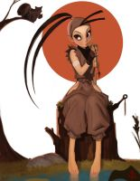Chris Sanders inspired Ibuki for Book by FUNKYMONKEY1945