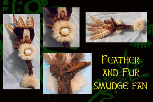 FEATHER AND FUR SMUDGE FAN by SCT-GRAPHICS