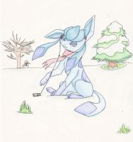 Glaceon Shading Practice by UnoChara