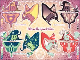 Sharky Sales: Elemoth Adoptables [CLOSED] by albinosharky