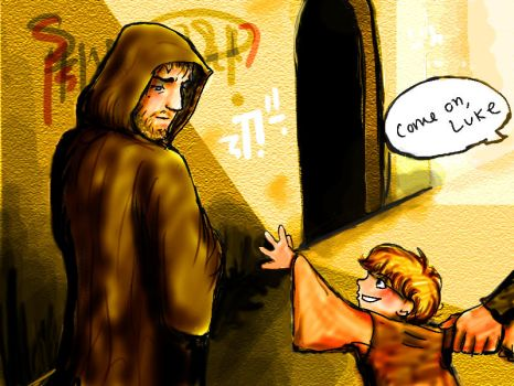 Obi-Wan and Luke by thehaydenclone
