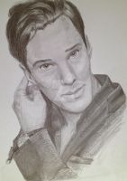 Benedict Cumberbatch by GrayCanidae