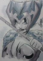 Deathbird Sketchcard commission by TeamAmazing