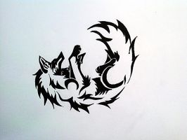 Wolf Tattoo--marker by akshay1