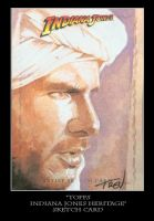 Sketch Card-Indiana Jones 28 by TrevorGrove