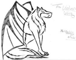 wolven wing tattoo by sapphire-blackrose
