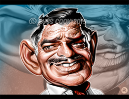 Clark Gable by RussCook