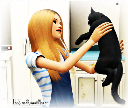 Me and My Cat :D by TheSims3KawaiiMaker