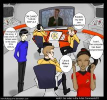 Rick Rolling the Enterprise by FluffySquirrel