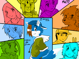 Z-artists Fanclub Wallpaper by megawolf77