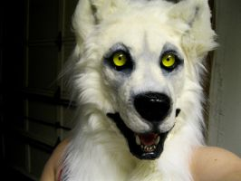 WHITE WOLF MASK by Crystumes