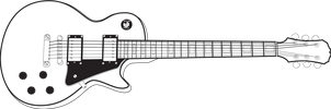 Les Paul Line Art by brokenb-x