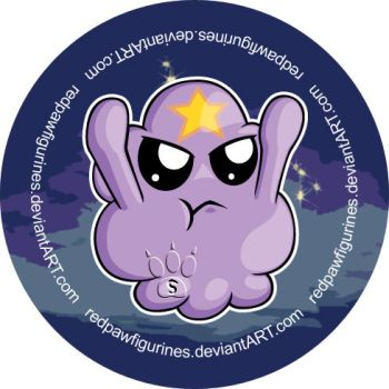 Lumpy Space Princess Chibi Badge by RedPawDesigns