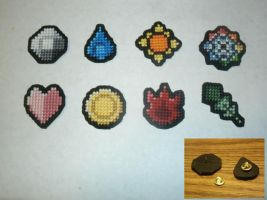 Pokemon - Kanto Gym Badge Set by UWorlds