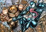 JUGGERNAUT VS. VENOM SKETCH CARD PUZZLE by AHochrein2010