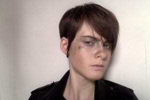 Harry Osborn cosplay makeup test 2 by CrystaltheEchidna01