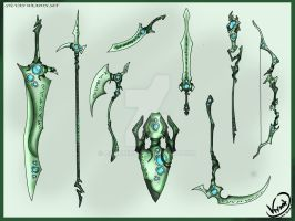 Sylvan Weapon Set by AquaMind