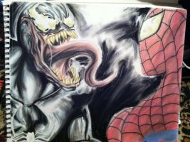 Finished! Venom vs Spider-Man by JessieTheArtist