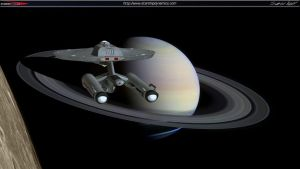 Endeavour passing Saturn by StarshipDynamics