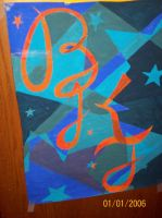 art project - initials n stars by scarcrow27