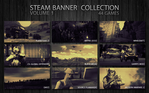 Steam Custom Banner Collection: Volume 1 by MindWav3