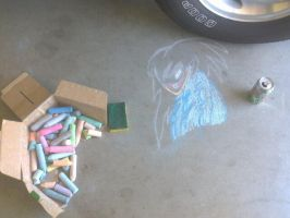 Jeff the Killer Chalk'd by YAOI--LUVR