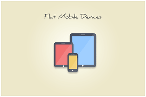 76 Flat Mobile Devices (freebie by pixelcave) by pixelcave