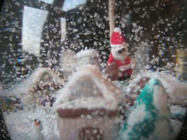 Handmade snowgobe with Santa 4 snowing! by SelloCreations
