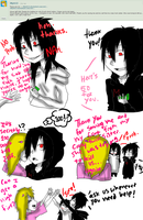 Ask Jeff The Killer and Mikael-Question 33 by MikaelBratLoni