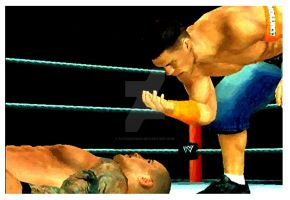 Cena Vs Orton Can't see me by Patrick75020