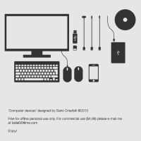 VECTOR ICONS: Computer hardware devices by Dario1crisafulli