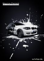 BMW White splash High-Res by MUCK-ONE