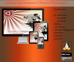 5to aniversario ubuntu-ni by williamjmorenor