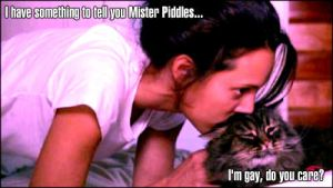 Dana and Mister Piddles by Nothanksmofo